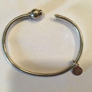 Eden Hand Arts Cape Cod Screwball silver bracelet